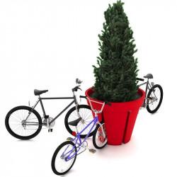 Porte-vélos en forme de pot fleurs - BIKEPOT