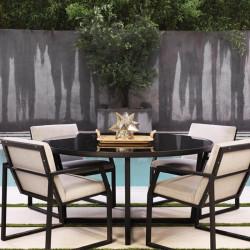 Salon de Jardin Design en Verre & Aluminium