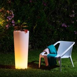 Jardinière haute LED RGBW Rechargeable - lemobilierdejardin.fr