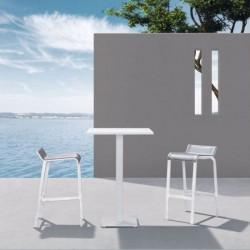 Tabouret Haut Aluminium d'extérieur - LUIS - lemobilierdejardin.fr