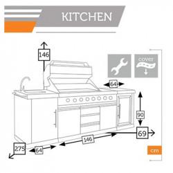 Barbecue professionnel d'extérieur - KITCHEN - lemobilierdejardin.fr
