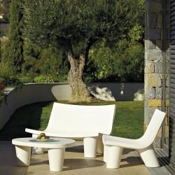 Canapé de jardin 2 places - Low Lita - Slide