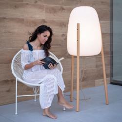 Lampe moderne sur pieds en bois - ROCKET 145 - Newgarden