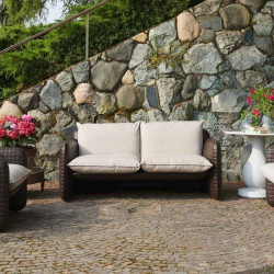 Canapé de jardin pour intérieur et extérieur - MARA - SLIDE