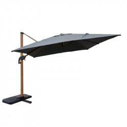 Parasol excentré orientable 3x3m - lemobilierdejardin.fr