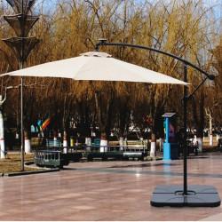 Pied de parasol excentré 4 dalles - lemobilierdejardin.fr