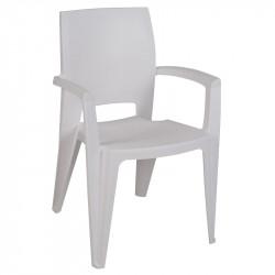 Lot de 6 fauteuil de jardin blanc - AVIVA