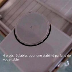 Table de jardin extensible  avec pieds reglables - MAJUNGA - lemobilierdejardin.fr
