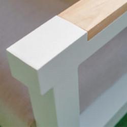 Fauteuil d'Extérieur Design Aluminium & Teck - ARES - lemobilierdejardin.fr