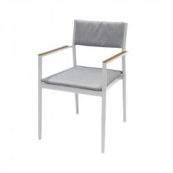 Chaise de jardin blanc - BONIGEN - lemobilierdejardin.fr