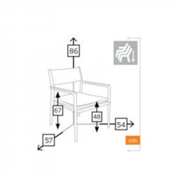 Chaise de jardin dimensions - BONIGEN - lemobilierdejardin.fr
