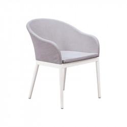 Chaise de jardin blanc - BRISA - lemobilierdejardin.fr