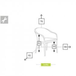 Chaise de jardin dimensions - BRISA - lemobilierdejardin.fr