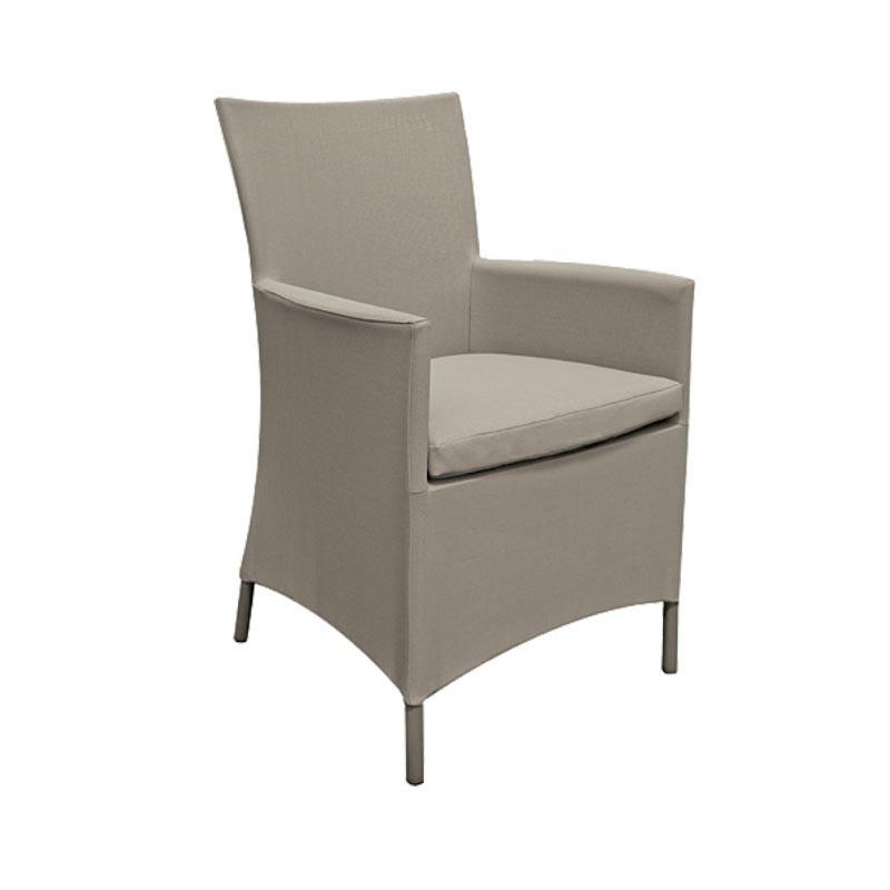 Chaise de jardin kakhi - CALIFORNIA - lemobilierdejardin.fr