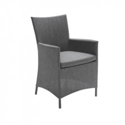 Chaise de jardin anthracite - CALIFORNIA - lemobilierdejardin.fr