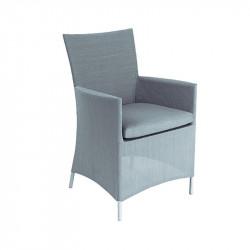 Chaise de jardin silver - CALIFORNIA - lemobilierdejardin.fr