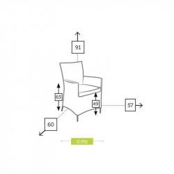 Chaise de jardin dimensions - CALIFORNIA - lemobilierdejardin.fr