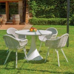 Chaise de jardin dans le jardin - CAMPUS - lemobilierdejardin.fr
