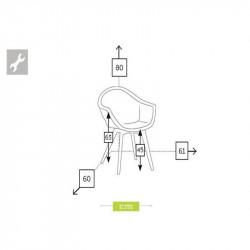 Chaise de jardin dimensions - CAMPUS - lemobilierdejardin.fr