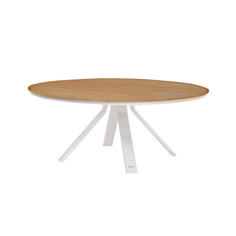 Table de jardin blanc - CASTOR - lemobilierdejardin.fr