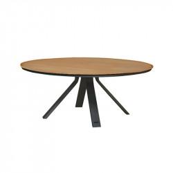 Table de jardin noir - CASTOR - lemobilierdejardin.fr