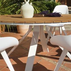 Table de jardin teck - CASTOR - lemobilierdejardin.fr