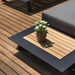 Canapé de jardin avec tablette - CESANO - lemobilierdejardin.fr