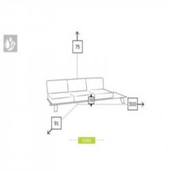Canapé de jardin dimensions 3 places - CESANO - lemobilierdejardin.fr