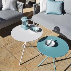 Table auxiliaire de jardin en salon - EXPLORER - lemobilierdejardin.fr