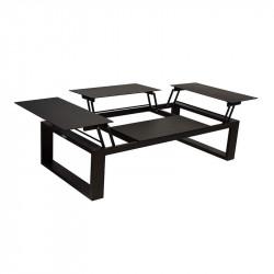 Table basse modulable en aluminium avec 4 plateaux - FERMO