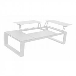 Table basse modulable en aluminium avec 4 plateaux - FERMO - lemobilierdejardin.fr