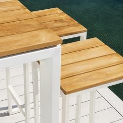Ensemble table haute de jardin et tabourets de bar - FERMO - lemobilierdejardin.fr