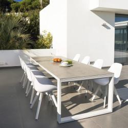 Table de jardin extensible - FERMO Ceram - lemobilierdejardin.fr