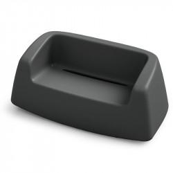 Canapé de jardin noir - SUGAR - LYXO