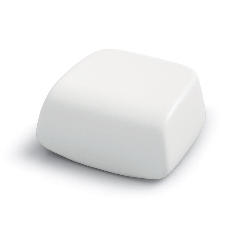 Repose pied / Pouf blanc - SUGAR - LYXO
