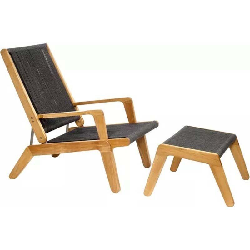 Chaise de terrasse réglable en teck - SKAGEN - OASIQ