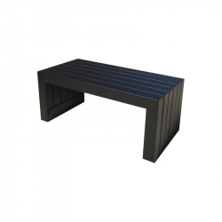 Table Basse Moderne Rectangulaire en Aluminium - TULUM - INCITTA