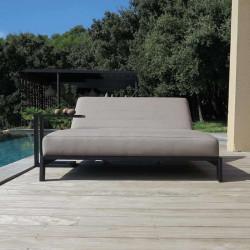 Table d'Appoint d'Extérieur Design en Aluminium noir - TULUM - lemobilierdejardin.f