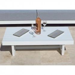 Table Basse Moderne Rectangulaire en Aluminium - lemobilierdejardin.fr