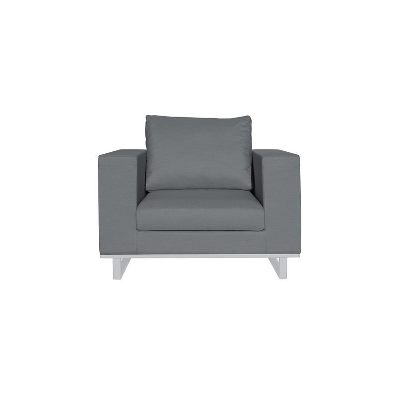 Fauteuil Moderne en Tissu & Aluminium - GOA - INCITTA