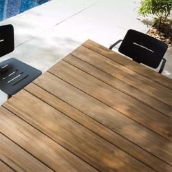 Table à manger avec plateau en teck - MACHAR - OASIQ