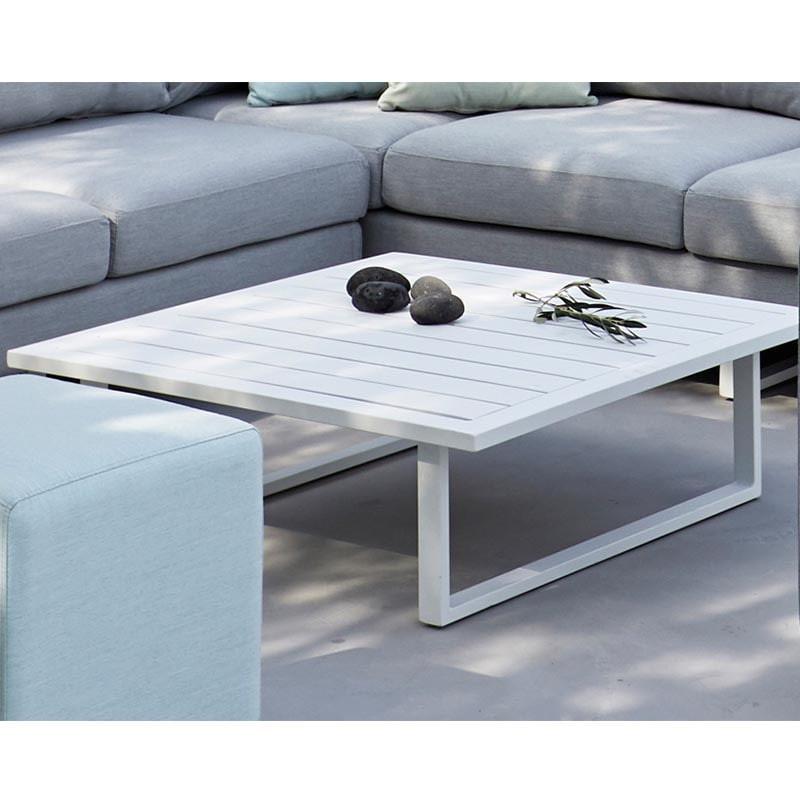 Table Basse de jardin carrée design  - GOA - lemobilierdejardin.fr
